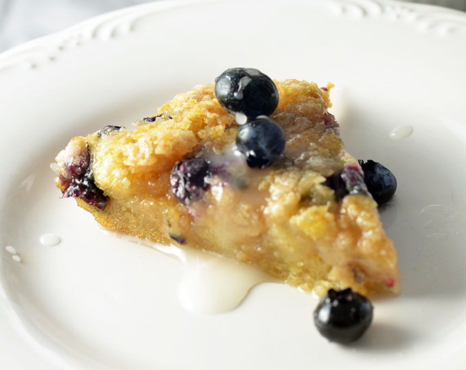 This gluten free blueberry coffee cake is just the ticket for a fun and easy breakfast idea. Even great for Mother's Day brunch!