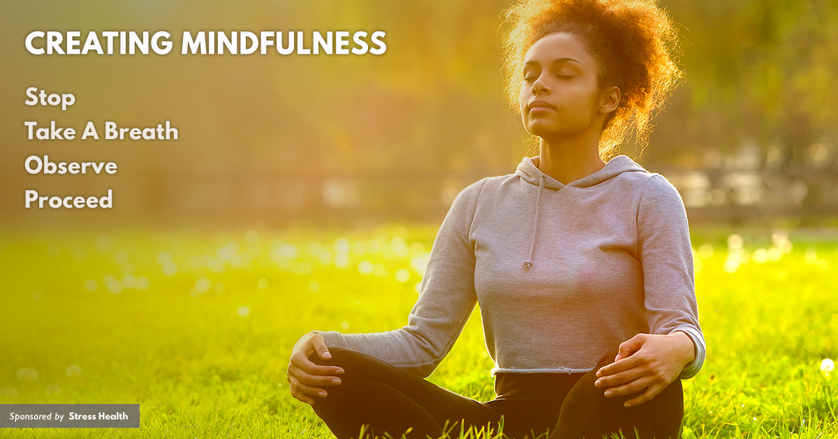 Learn how to manage stress with mindfulness