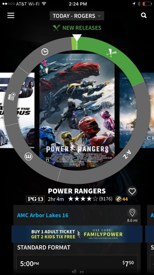 The Atoms ticket app has a great free movie ticket offer for the Power Rangers movie! Check it out!