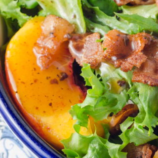 Bacon and Peach Salad with Only Four Ingredients!