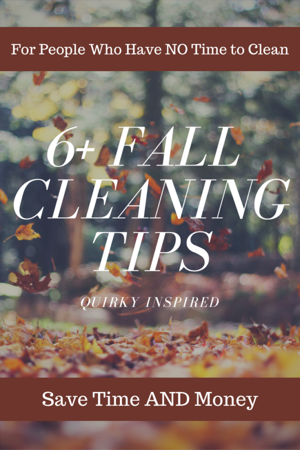 Fall cleaning tips are simple and easy ways to get your home in tip top shape without spending a ton of money or spending time you don't have cleaning. Click here for 6+ cleaning tips for fall!