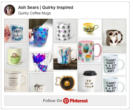 Follow me on Pinterest to check out my collection of Quirky Coffee Mugs