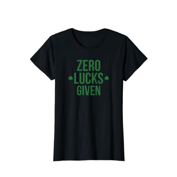 Zero Lucks Given T Shirt