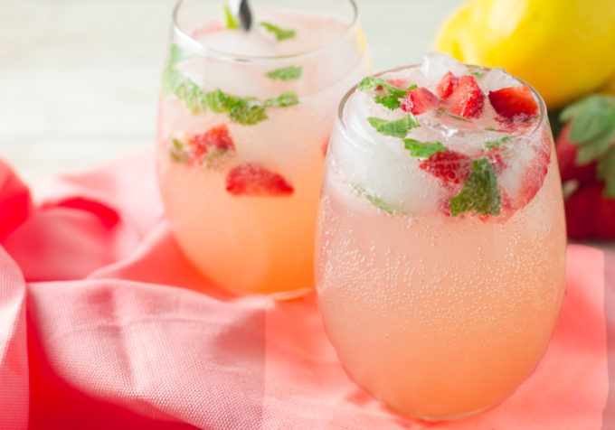 Sparkling Strawberry Mint Lemonade