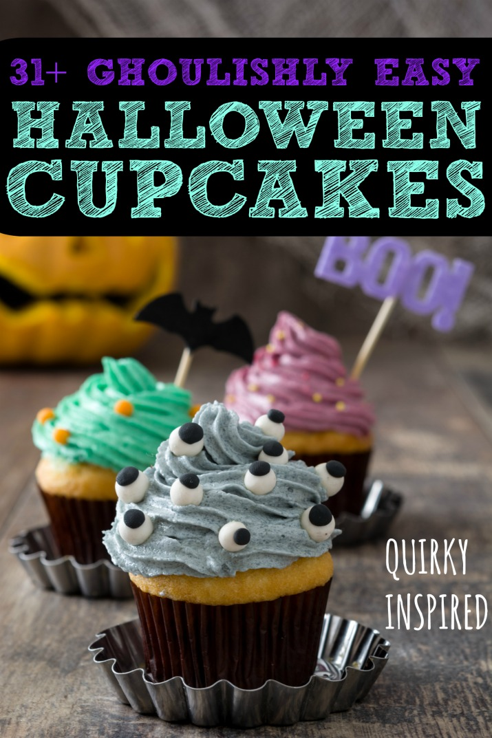 This round up of easy Halloween cupcakes has both cute Halloween cupcakes and creepy Halloween cupcakes