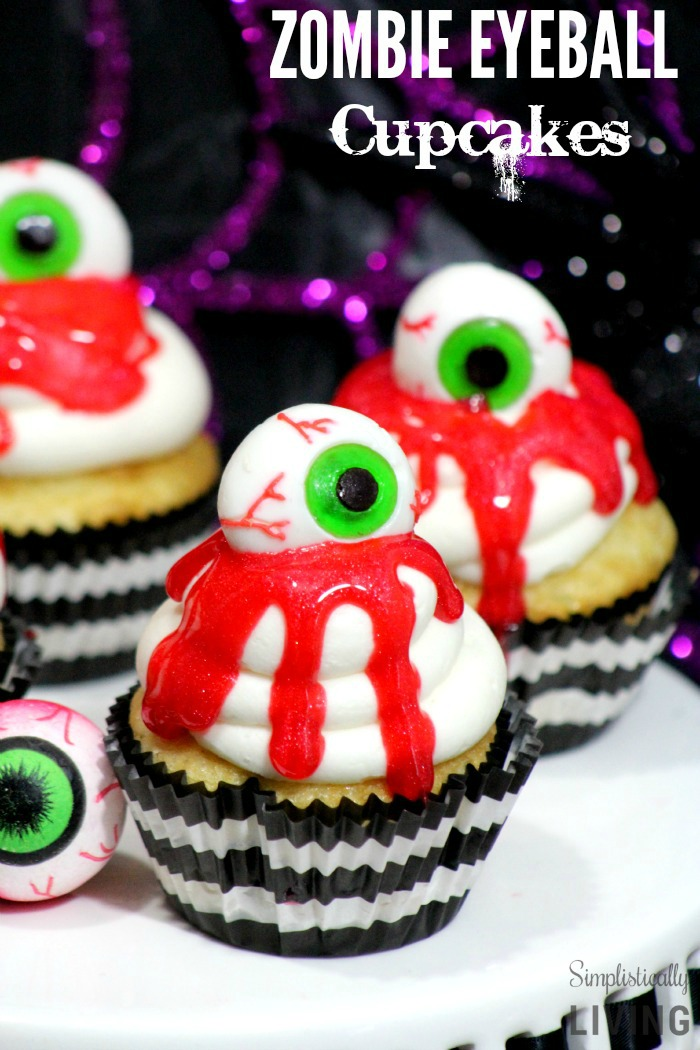 These scary halloween cupcakes are some of the best Halloween cupcake ideas on the Internet. Fun, creepy and tasty!