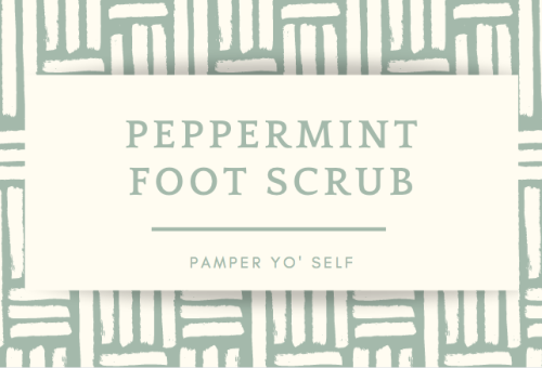 Peppermint Foot Scrub Printable Label
